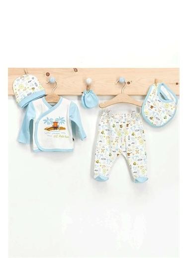 U.S. Polo Assn. U.S. Polo Assn Lisanslı 5 Li Hastane Çıkışı Erkek Bebek  Krem
